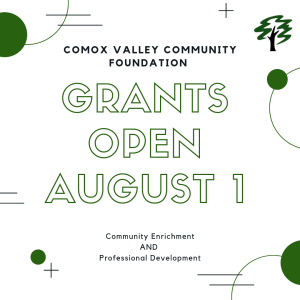 Comox Valley Community Foundation Grant Applications Open